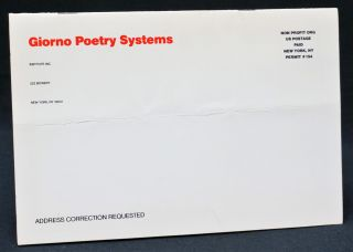 Giorno Poetry Systems Catalogue Issue #19