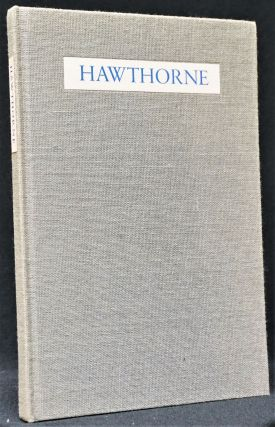 Hawthorne: Poems Adapted from the American Notebooks
