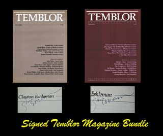 TEMBLOR: Contemporary Poets, Issue Numbers 1 & 2