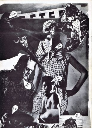 "Collage Magazine (""Life Begins With Love,"" 1963) with: Ephemera with: Poetry Postcard, ""Upon Viewing the Movie Howl"""
