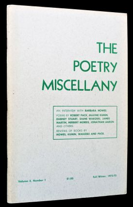 The Poetry Miscellany Vol. 2 No. 1 (Fall/Winter, 1972-73)