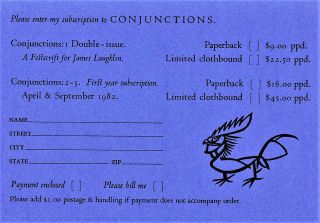 Conjunctions: 1 Inaugural Double Issue Winter 1981-82