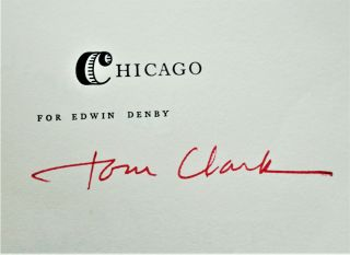 Chicago: For Edwin Denby