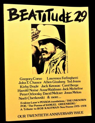 (1) A Secret Location on the Lower East Side: Adventures in Writing (1960-1980), w/(2) Beatitude No. 29: the Bob Kaufman / 20th Anniversary Special Issue