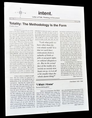 intent. Vol 1 No. 1 (Spring 1989) with: Before Columbus Review Vol. 1 No.s 2&3 (Fall-Winter 1989)