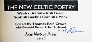 Writing the Wind: A Celtic Resurgence- The New Celtic Poetry