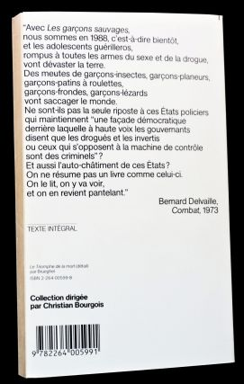 A French-Language William S. Burroughs Bundle: Le Metro Blanc (White Subway), [1] with: Les Garçons Sauvages (The Wild Boys) [2]
