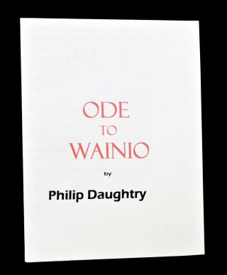 Notes from Syropa with: The Poetry Consumer with: Dionysus with: Ode to Wainio (Two Versions)