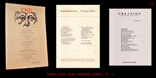The Thomas Rain Crowe Broadside Collection (Part I
