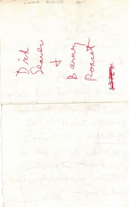 Autograph Letter from Allen Ginsberg to Richard Seaver