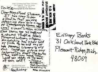 Hand-Written Postcard with: Copied Letter-List with: Original Mailing Envelope