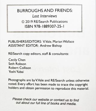Burroughs and Friends: Lost Interviews