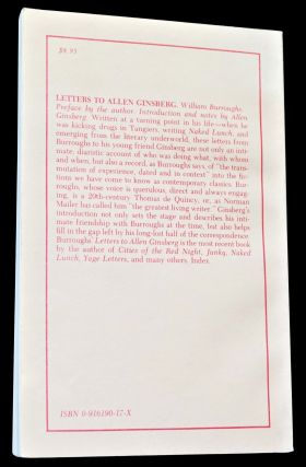 Letters to Allen Ginsberg 1953-1957