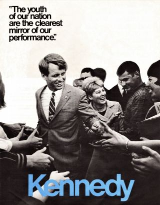 """Pamphlet for Senatorial Campaign (""""Let's Put Bob Kennedy to Work for New York"""") with: Presidential Campaign Flyer (Two Copies)"""