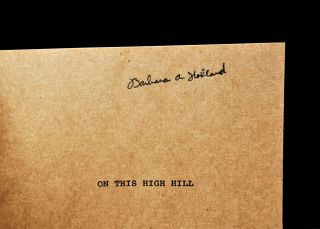 On This High Hill