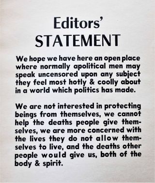 Journal for the Protection of All Beings No. 1 (1961)