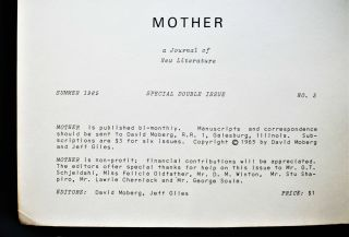 Mother: A Journal of New Literature No. 5 (Special Double Issue, Summer 1965)